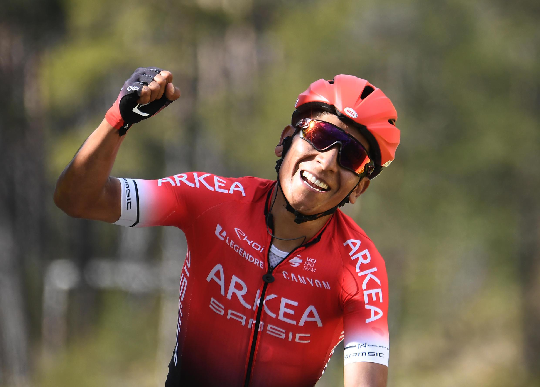 Quintana lors de sa victoire sur la septième étape de Paris-Nice en mars 2019.   Les organisateurs de la 78e course cycliste Paris-Nice ont annoncé le 13 mars 2020 l'annulation de la dernière étape prévue dimanche en raison de la pandémie de coronavirus.