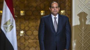 Le président égyptien Abdel Fattah al-Sissi au palais présidentiel du Caire, le 10 octobre 2015.