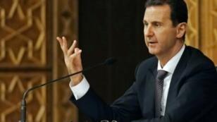 صورة وزعتها وكالة سانا السورية للأسد خلال اجتماع لقيادة حزب البعث في 7 تشرين الأول/أكتوبر 2018