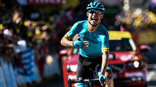 Le Danois Magnus Cort Nielsen a remporté la troisième étape du Tour de France, le 22 juillet 2018 à Carcassonne.