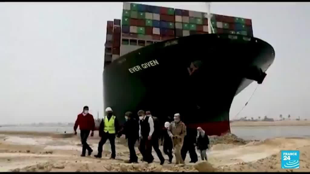 2021-07-07 23:42 Container ship begins exit from Suez Canal 106 days after getting stuck