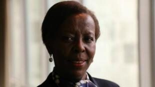 La Ministra de Asuntos Exteriores de Ruanda, Louise Mushikiwabo, elegida nueva secretaria general de la Organización Internacional de la Francofonía (OIF), en la Asamblea General de la ONU, el 25 de septiembre de 2018.