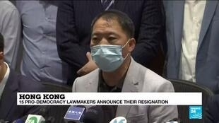 2020-11-11 15:05 Hong Kong lawmakers resign en masse over China meddling