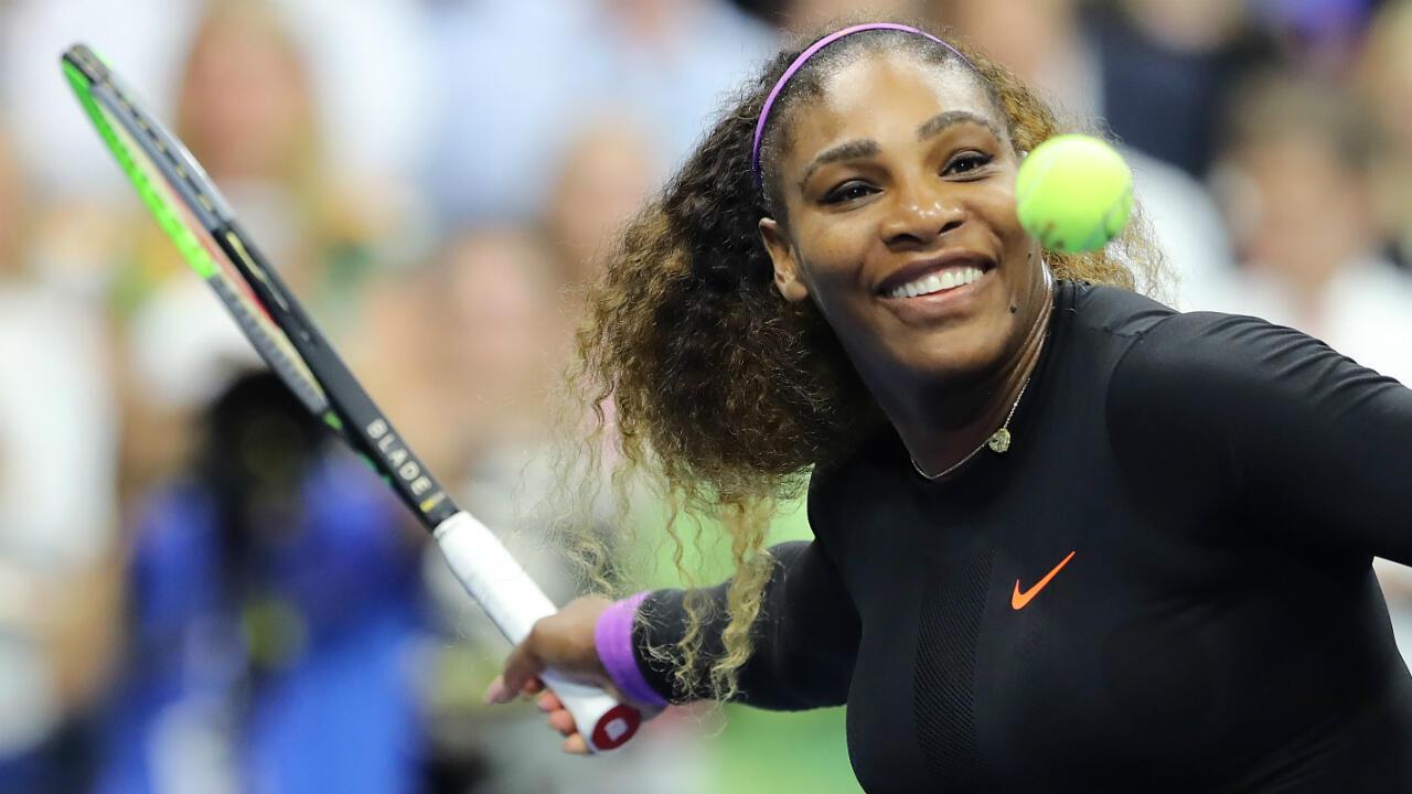 Serena Williams, le 5 septembre 2019, à New York où se déroule l'US Open de tennis.