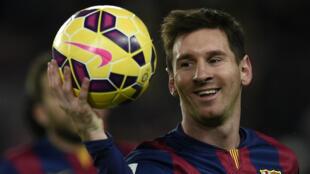 Lionel Messi lors du match contre l'Espanyol de Barcelone, le 7 décembre 2014
