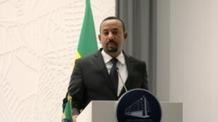 رئيس الوزراء الإثيوبي آبي احمد في أديس ابابا في 12 آذار/مارس