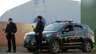 عناصر من الأمن الوطني المغربي في مراكش