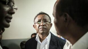 Le président Hery Rajaonarimampianina en janvier 2014, alors fraîchement élu.