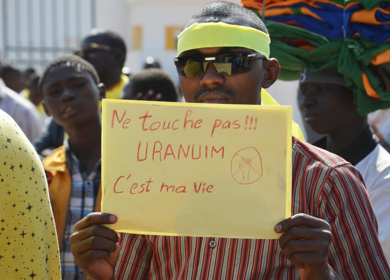 Une manifestation contre Areva à Niamey en 2014