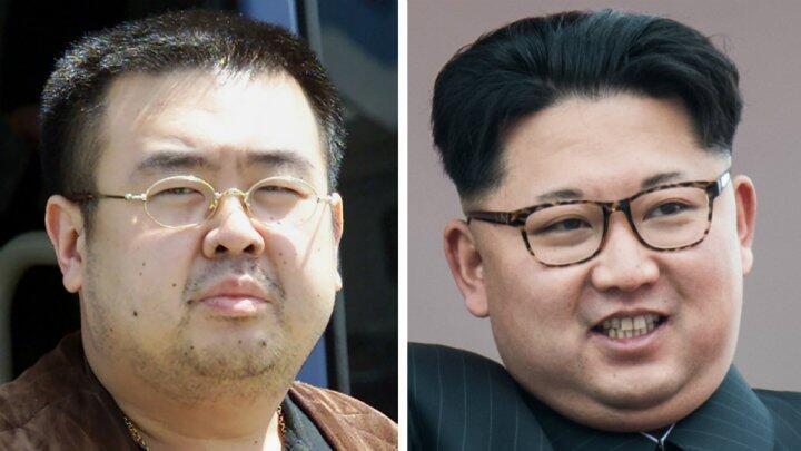 Kim Jong-Nam (à gauche) et son demi-frère, le dirigeant nord-coréen Kim Jong-un (à droite).
