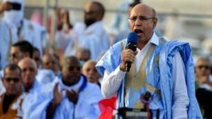 El candidato Mohamed uld Ghazouani habla en un mitin en Nuakchot, Mauritania, el 20 de junio de 2019.