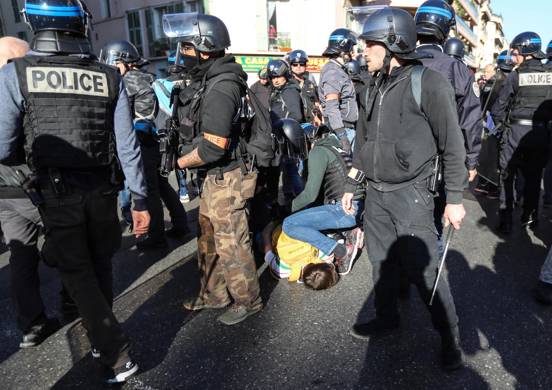 Mobilisation policière à Nice, le 23 mars 2019.