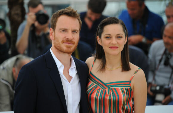 """Michael Fassbender and Marion Cotillard at Saturday's photocall for """"Macbeth"""", the festival's last competition entry."""