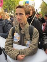 Victor Colombani, leader du syndicat étudiant UNL