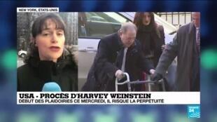2020-01-22 16:11 Procès d'Harvey Weinstein : Début des plaidoiries ce mercredi au tribunal de Manhattan