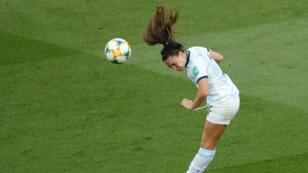 Fútbol - Copa Mundial Femenina - Grupo D - Argentina v Japón - Parc des Princes, París, Francia - 10 de junio de 2019 Agustina Barroso de Argentina en acción REUTERS / Gonzalo Fuentes TPX IMÁGENES DEL DÍA