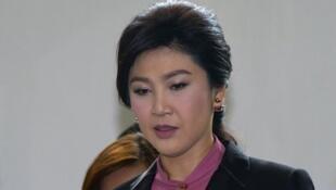 L'ex-chef de gouvernement thaïlandais a témoigné devant l'Assemblée nationale à Bangkok pour clamer son innocence, le 22 janvier 2015.