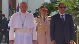 البابا فرنسيس مع الرئيس المصري