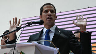 Juan Guaido, le 27 mars 2019, lors d'un rassemblement à Caracas.