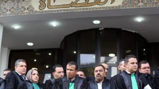 قضاة ووكلاء النيابة يحتجون للمطالبة باستقلال القضاء في الجزائر العاصمة، الجزائر، 31 أكتوبر/ تشرين الثاني 2019