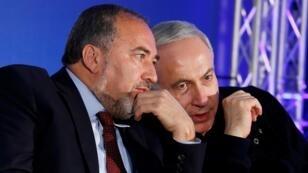 نتانياهو وليبرمان.