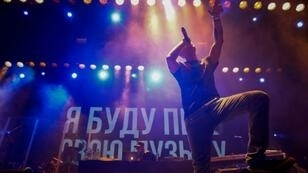 Rapper Oxxxymiron was among the rap stars who performed in protest at pressure on popular artists