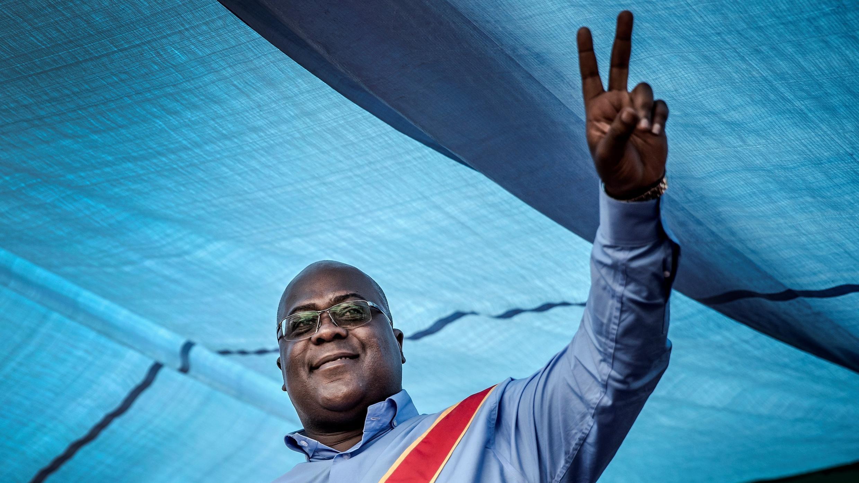 Félix Tshisekedi le 21 décembre 2018 à Kinshasa.
