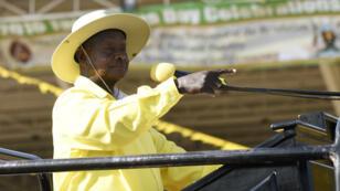 Yoweri Museveni en février 2016.