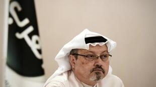 الصحافي السعودي جمال خاشقجي في المنامة في كانون الأول/ديسمبر 2014