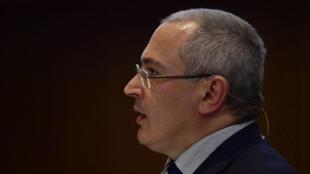 Mikhaïl Khodorkovski lors d'un discours à Berlin le 20 mars 2017.