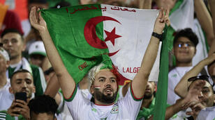 Les supporters algériens dans les tribunes du stade Al-Salam, au Caire, lors du match contre la Tanzanie, le 1er juillet 2019.