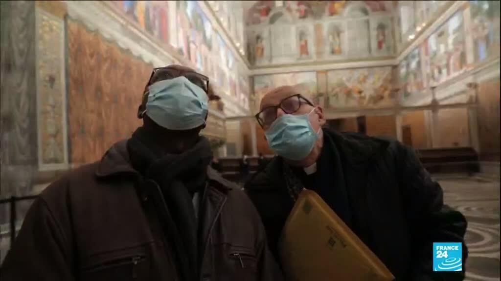 2021-02-01 14:14 Covid-19 : l'Italie assouplit ses restrictions, le Chapelle Sixtine rouvre au public