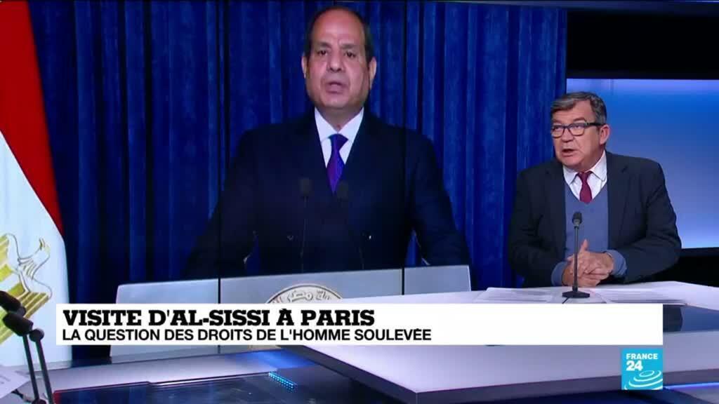 2020-12-07 10:30 Visite d'al-Sissi à Paris : Paris et Le Caire veulent renforcer leur partenariat