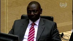 L'ex vice-président kenyan William Ruto, jugé à la CPI de La Haye depuis septembre 2013.
