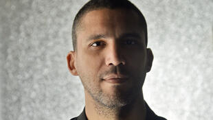الصحافي الجزائري خالد درارني خلال مقابلة مع وكالة الأنباء الفرنسية في الجزائر العاصمة في 23 شباط/فبراير 2021