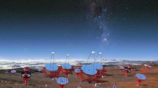Prototipo del nuevo observatorio de rayos gamma que se construirá en Chile y será el más grande del mundo.