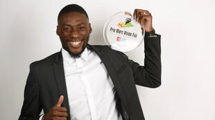 Karl Toko Ekambi, lauréat du Prix Marc-Vivien Foé 2018.