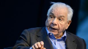 Michel Galabru lors d'une répétition, en juin 2013.