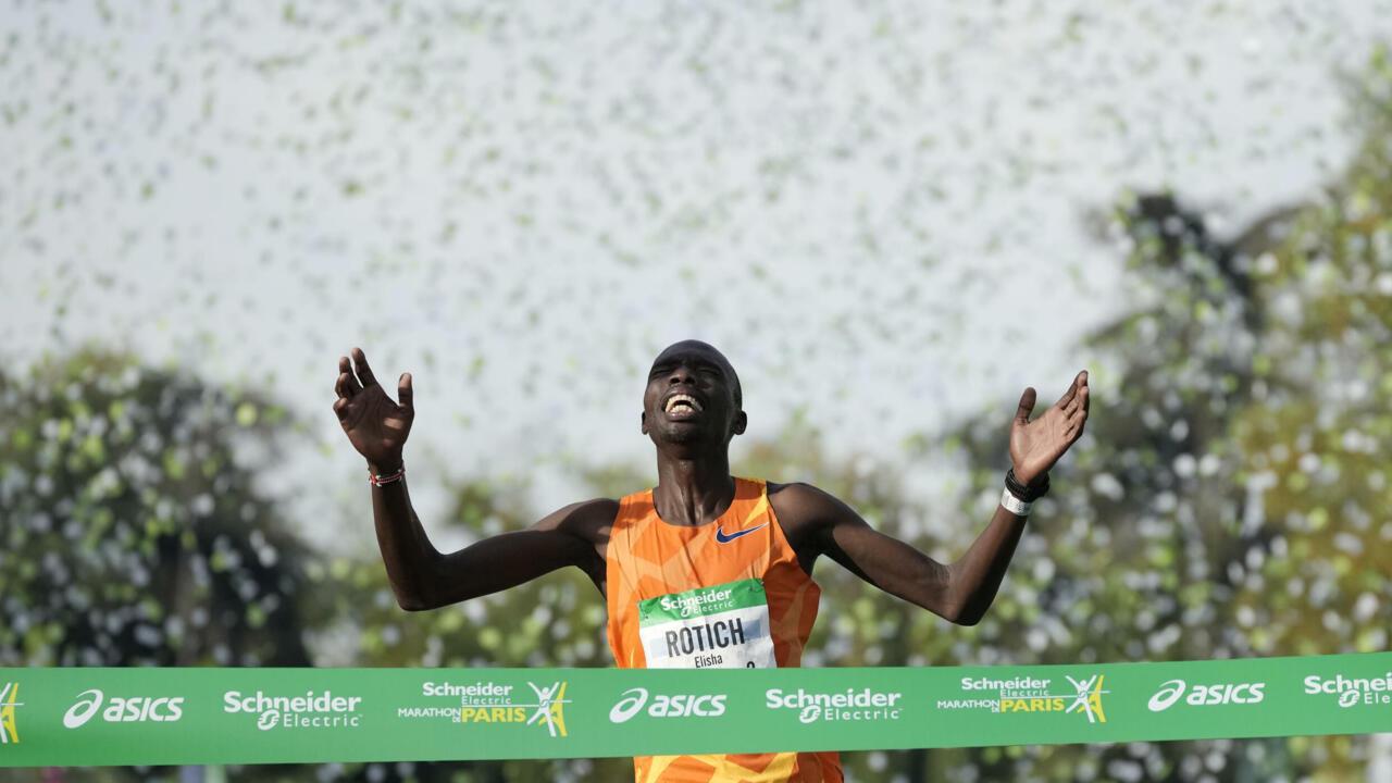 Kenya's Elisha Rotich and Ethiopia's Tigist Memuye win Paris marathon