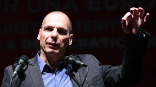 Yanis Varoufakis, le 20 février 2016, lors du sommet du plan B à Madrid.