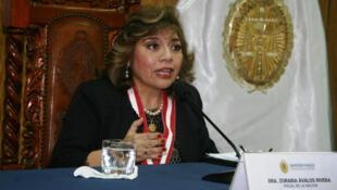 La nueva Fiscal General de Perú, Zoraida Ávalos Rivera, declaró en emergencia al Ministerio Público, el 8 de enero de 2019.