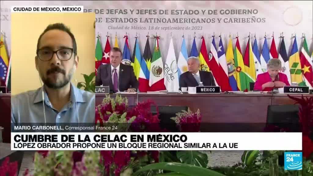 2021-09-18 19:01 Durante cumbre de la Celac, López Obrador propone un bloque regional similar al modelo de la UE