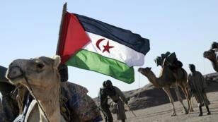 Parade du Front Polisario qui a proclamé, en 1976, une République arabe sahraouie démocratique (RASD).