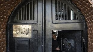 The entrance to the Tora prison in the Egyptian capital Cairo, pictured in March 2020.