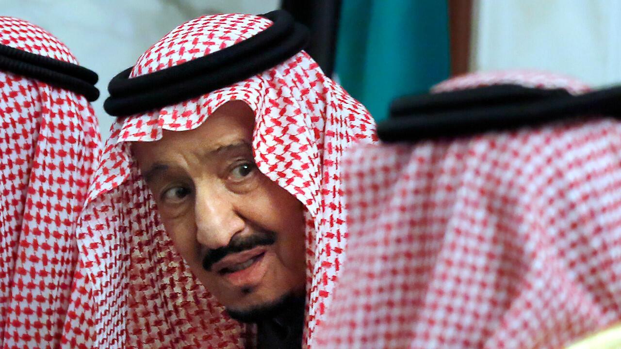 الملك سلمان خلال قمة لمجلس تعاون الخليج في 10 ديسمبر/كانون الأول 2020 بالرياض.