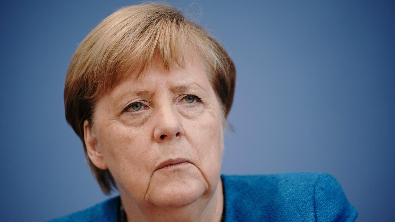 Archivo-La canciller alemana Ángela Merkel celebra su conferencia de prensa anual de verano, en Berlín, Alemania, el 28 de agosto de 2020.