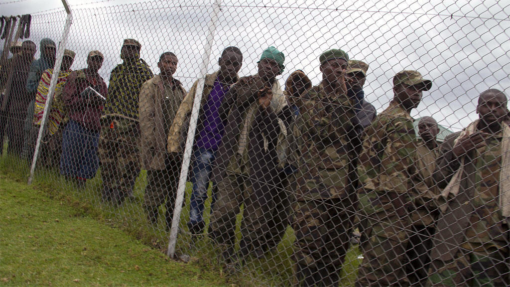 Rebelles du M23 qui se sont rendus en Ouganda en novembre 2013