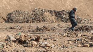 Un charnier en Irak dans la zone de Hamam al-Alil en novembre 2016.