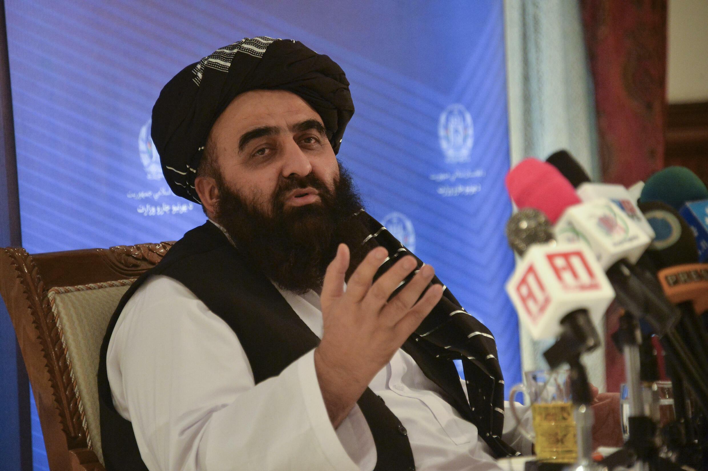 وزير الخارجية في حكومة طالبان أمير خان متقي في كابول في 14 أيلول/سبتمبر 2021