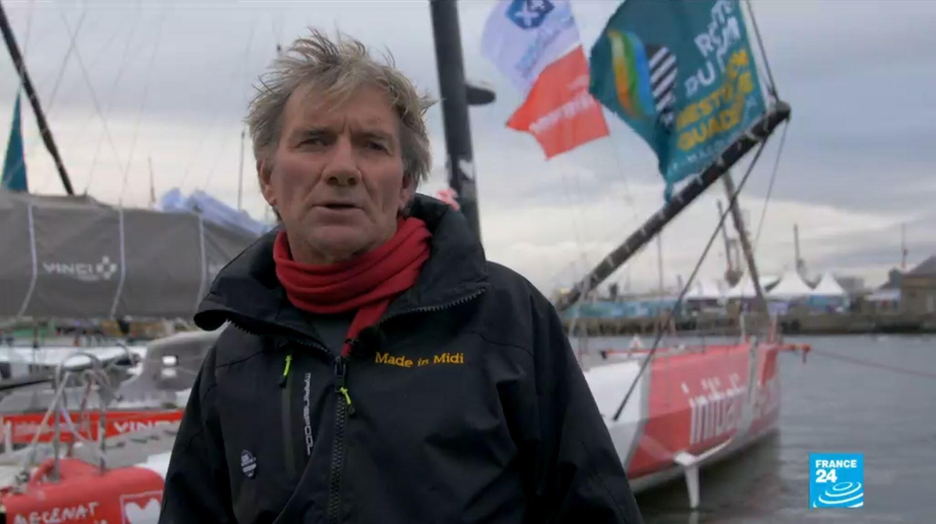 Kito de Pavant, avec d'autres skippers, soutient l'association SOS Méditerranée et l'Aquarius.
